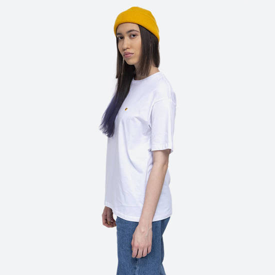 Carhartt WIP W S/S Chase T-Shirt I028900 WHITE/GOLD